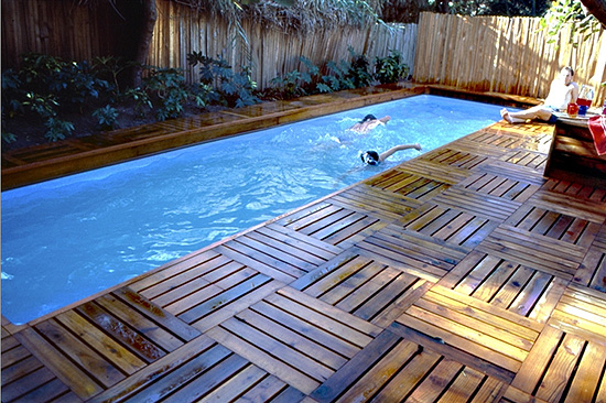 The stevenson projects lap pool deck - How to build a swimming pool waterfall ...