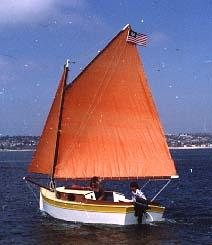 Stitch glue catboat Here | Antiqu Boat plan